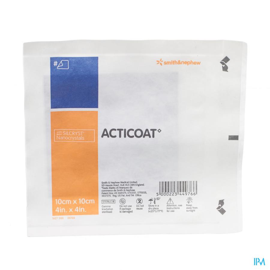 Acticoat Pans Individuel 10x 10cm 66000791
