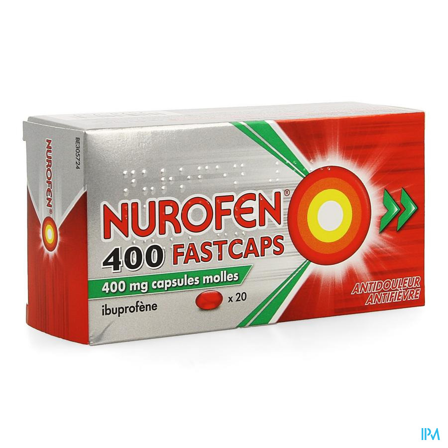 Nurofen 400 Fastcaps Caps 20 X 400mg