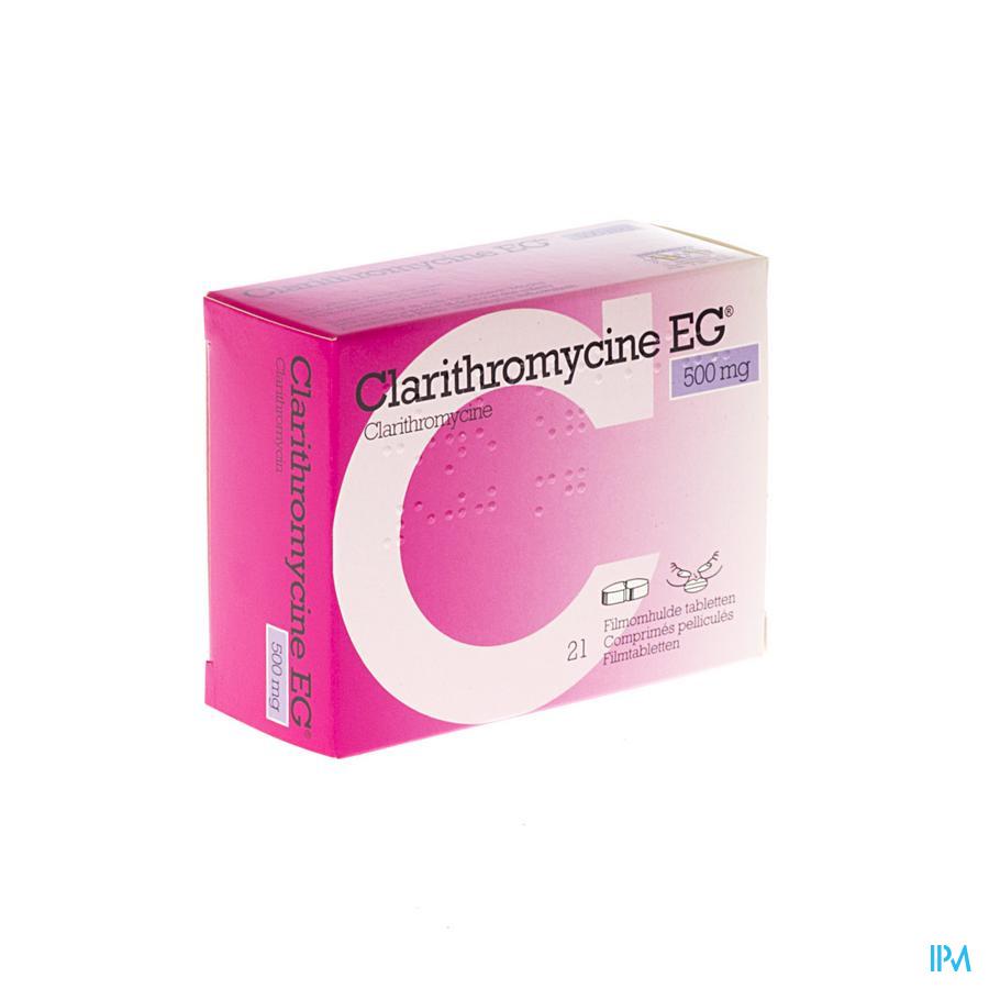 Clarithromycine Eg Comp 21 X 500mg