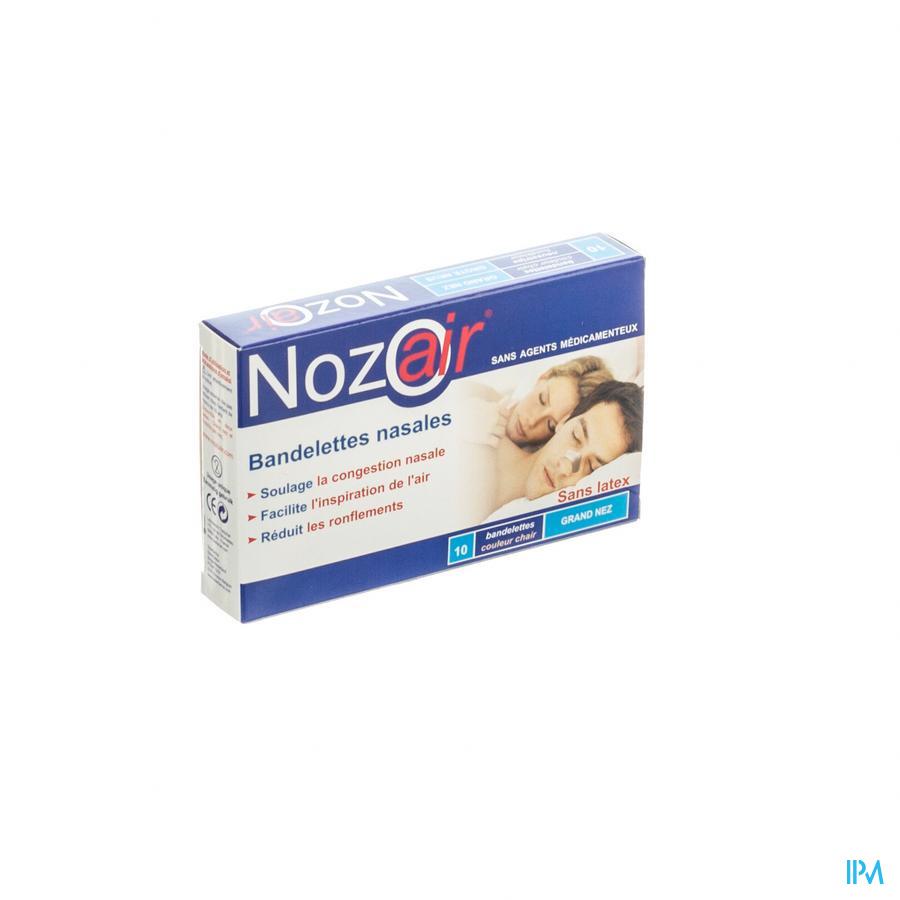 Nozoair Bandelette Nasale Grand Nez 10