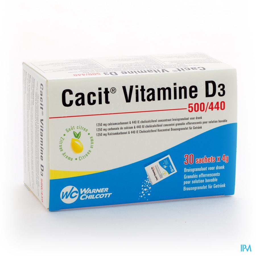 CACIT VIT. D3  500/440 SACH GRAN 30