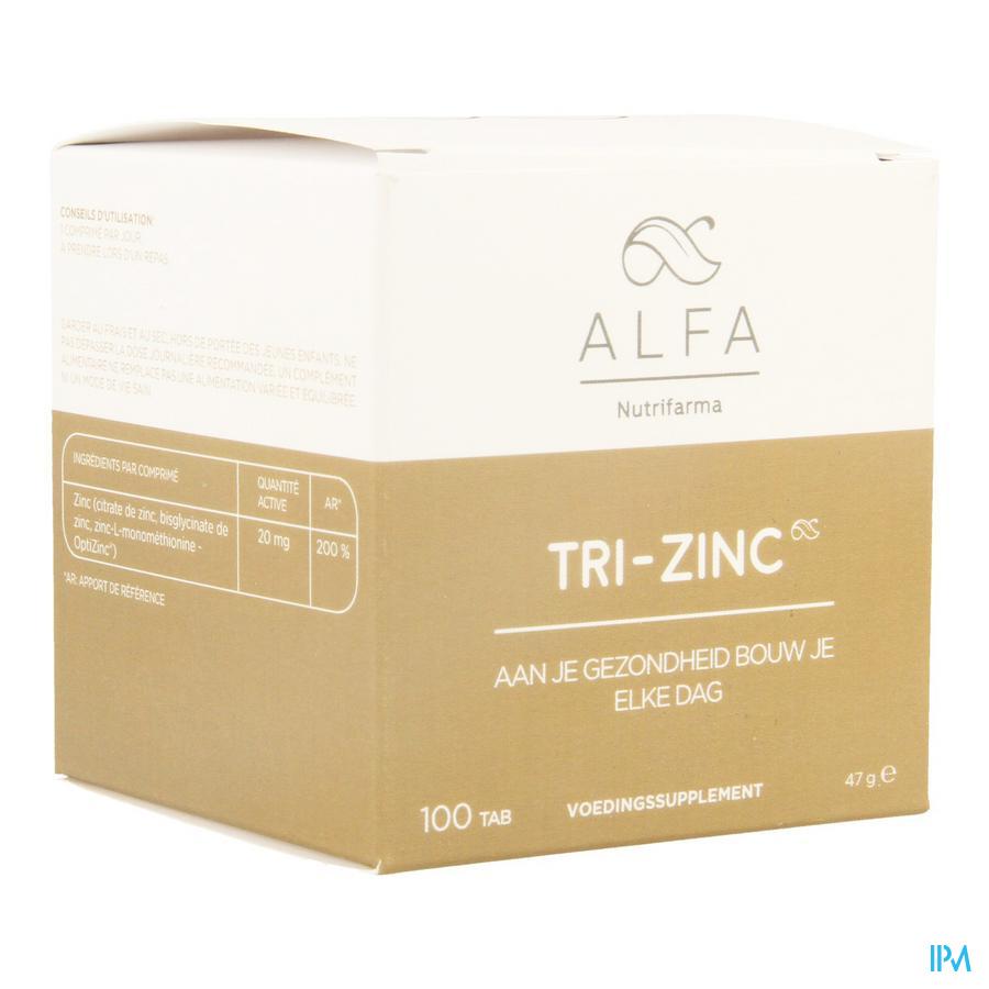 Alfa Tri-zinc 20mg Tabl 100