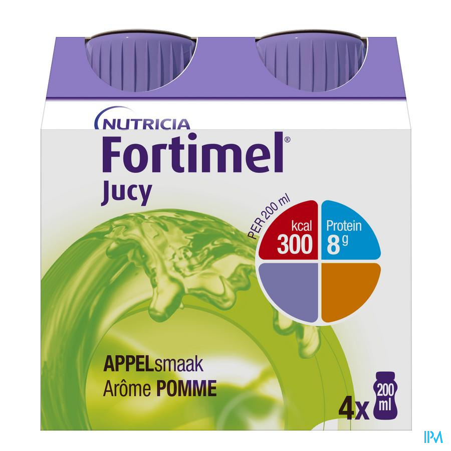 Fortimel Jucy Pomme Cluster 4x200 ml 65445  -  Nutricia