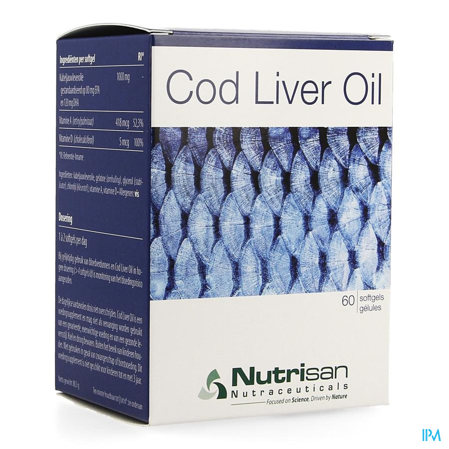 Cod Liver Oil 60 Softgel  Nutrisan