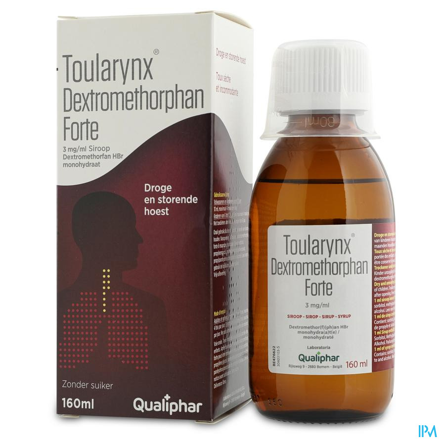 Toularynx Dextromethorphan Forte 3mg/ml Sir. 160ml