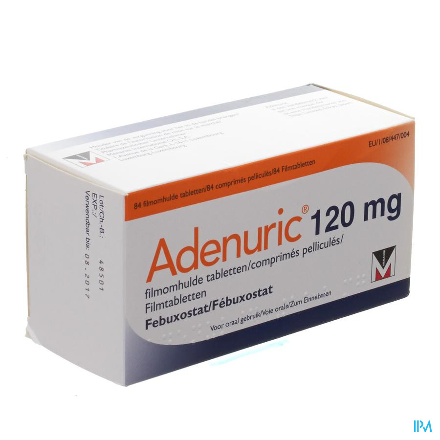Adenuric 120 mg Filmomhulde Tabletten 84 X 120 mg