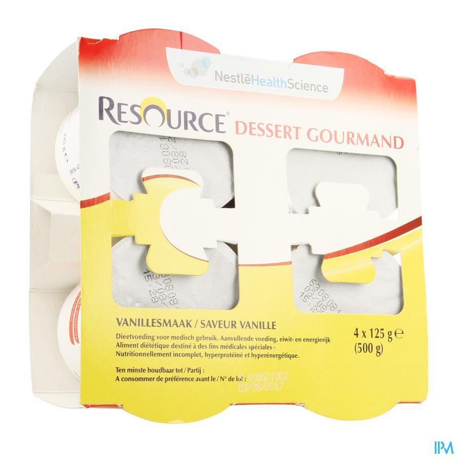 Resource Dessert Gourmand Vanille 4x125 gr 12318667