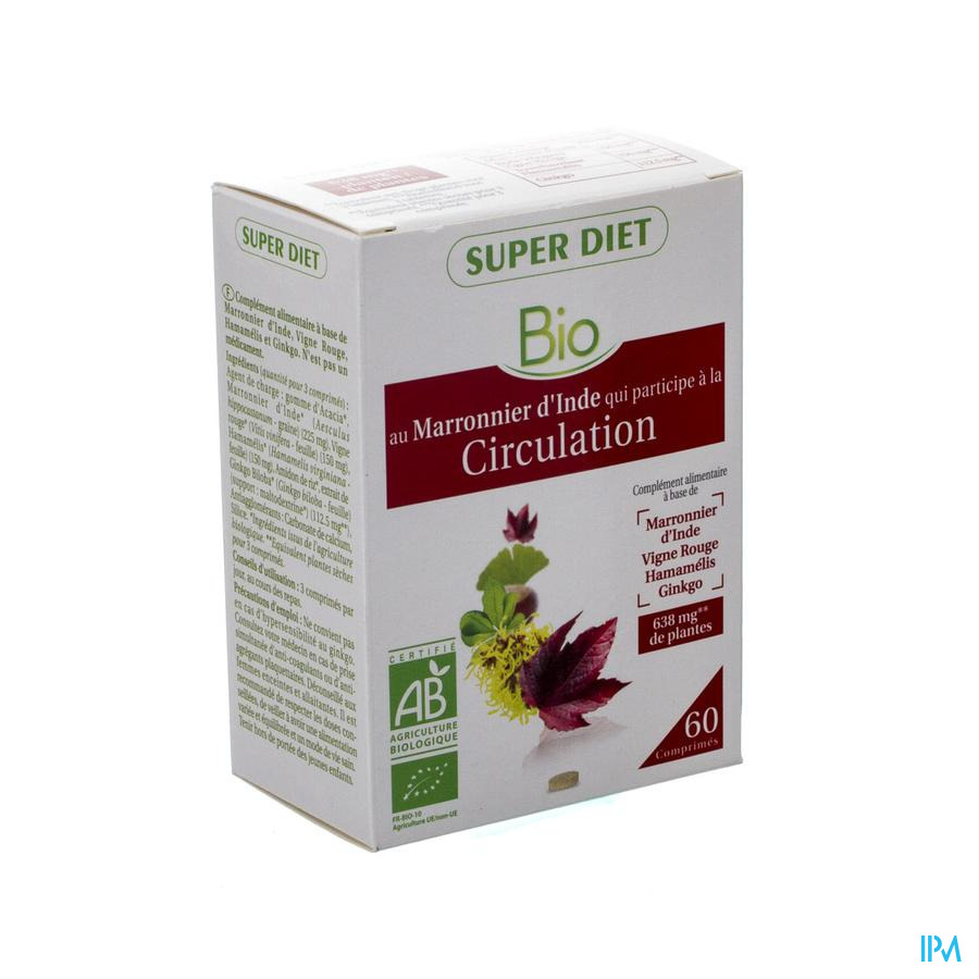 Super Diet Complexe Circulation Bio Comp 60