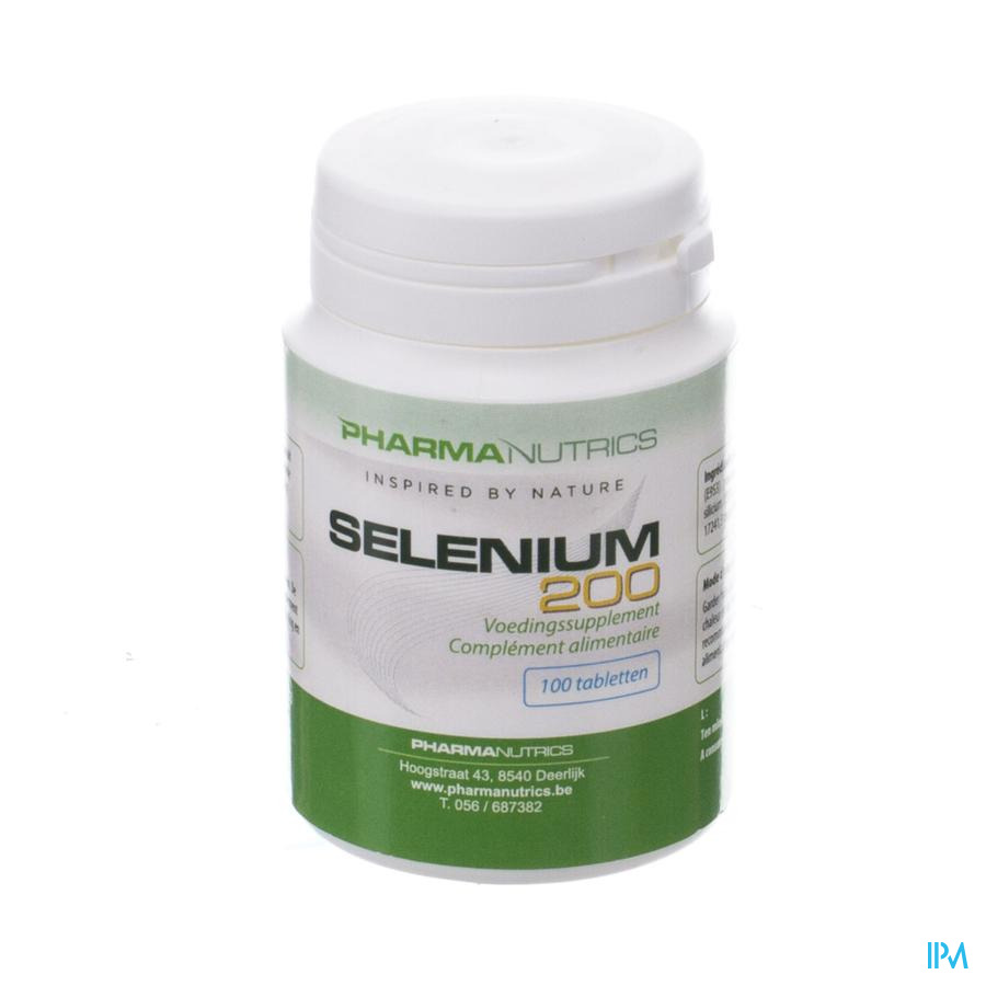 Selenium 200mcg Comp 100 Pharmanutrics