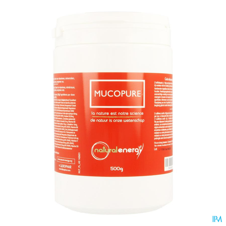 Mucopure Natural Energy Pdr 500g