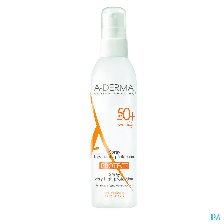 Afbeelding Aderma Protect met SPF 50+ Waterresistent voor Gevoelige Huid Spray 200 ml.
