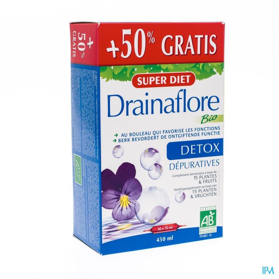 Super Diet Drainaflore Bio +50% Amp 30x15ml