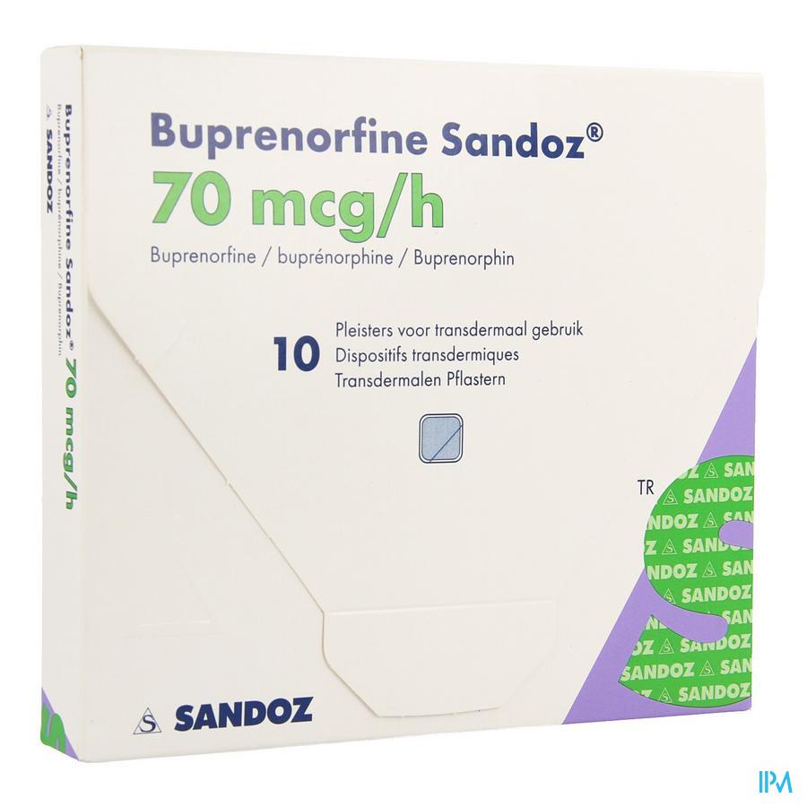 Buprenorphine Sandoz 70,0mcg/u Pleist.transderm.10