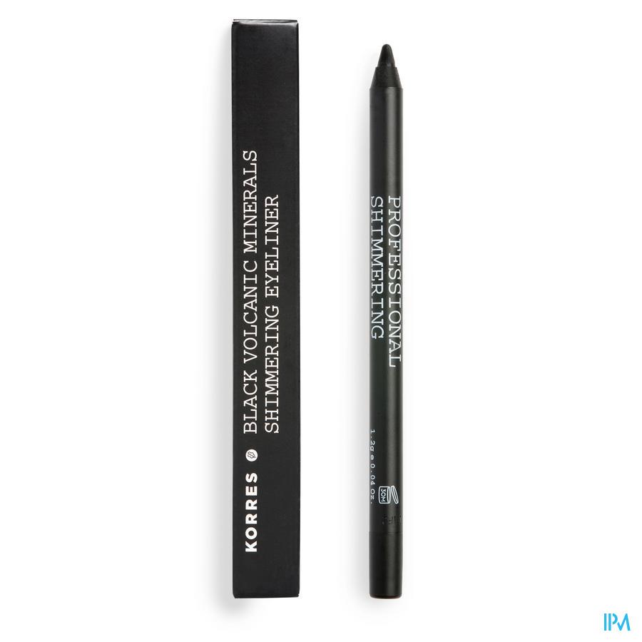 Korres Km Pencil Shimmer Mineral Black
