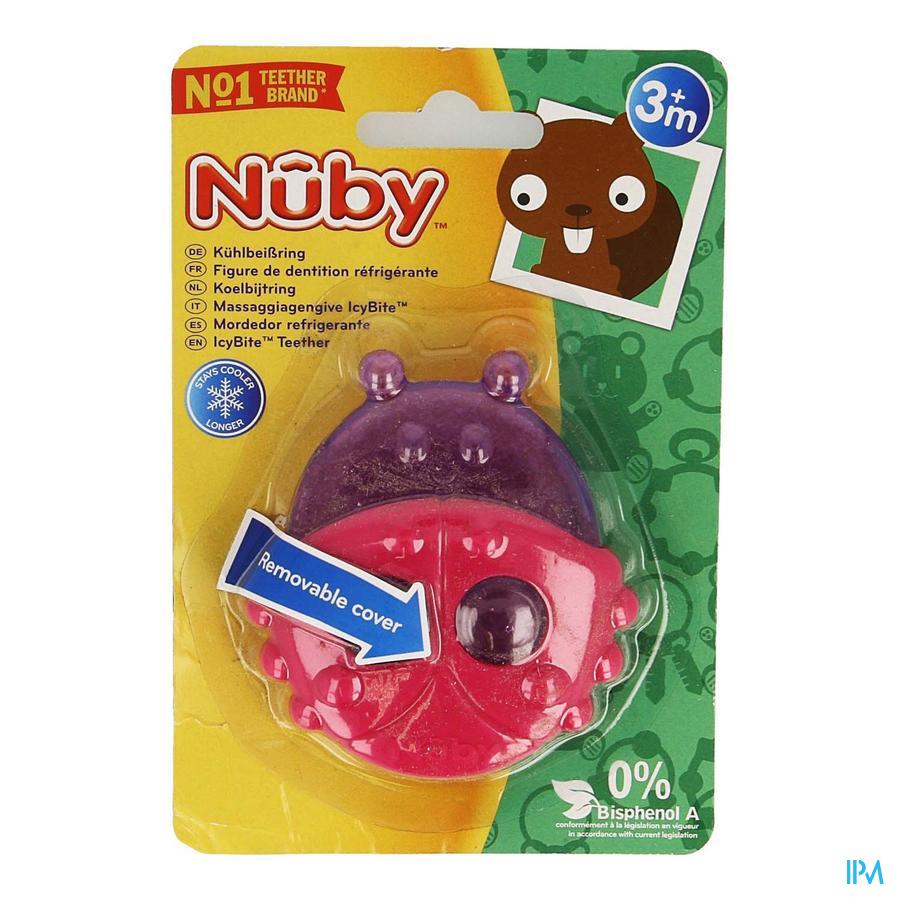 Nûby Koelbijtfiguur diertjes met beschermhoes - 3m+