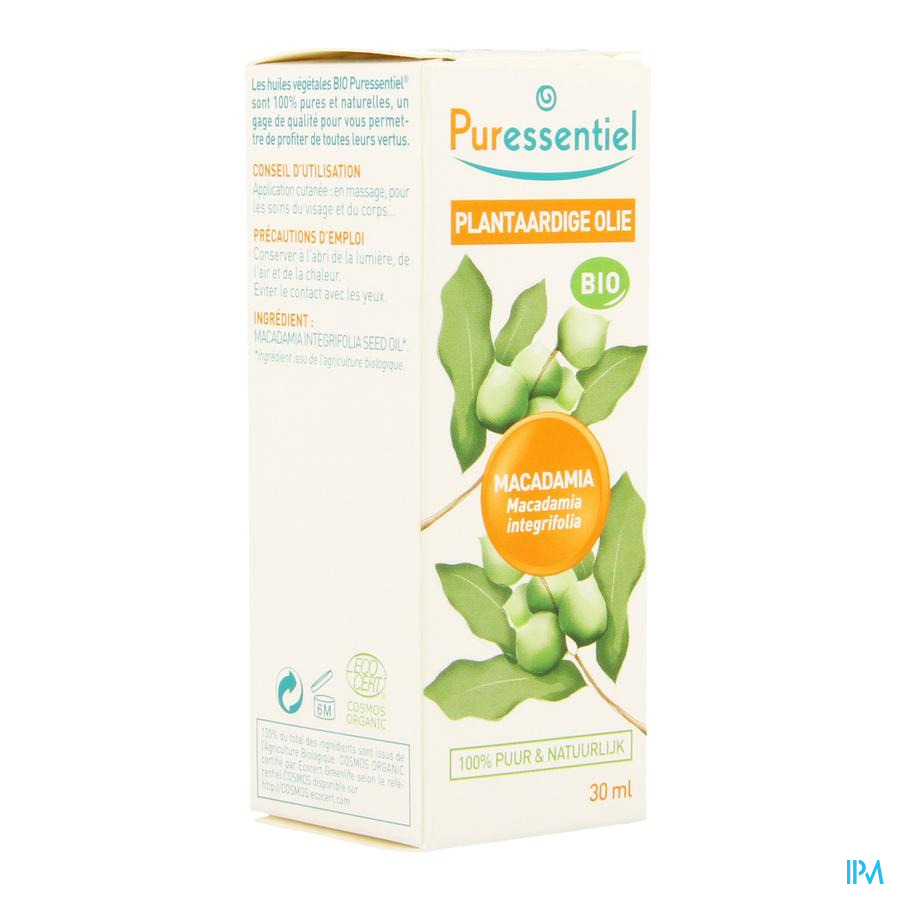 Puressentiel Plant. Olie Bio Macadamia 30ml