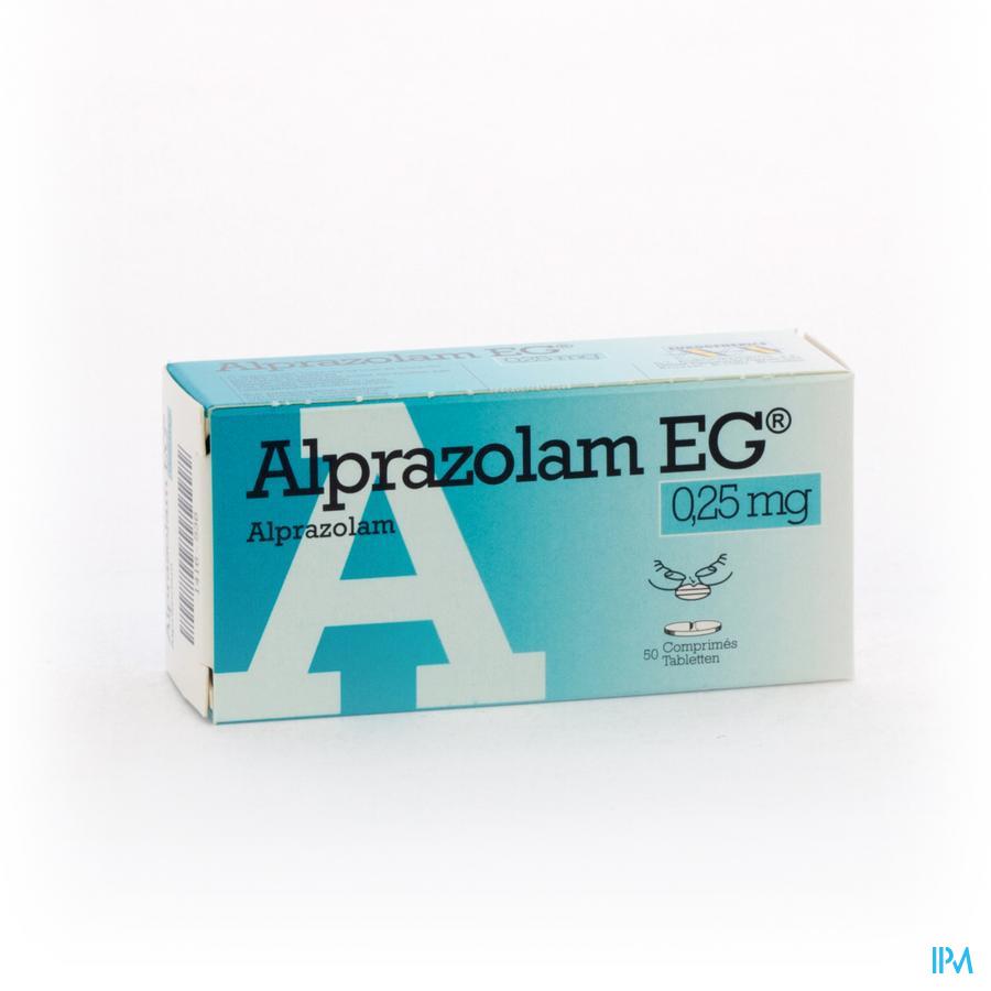 Alprazolam Eg Comp 50 X 0,25mg