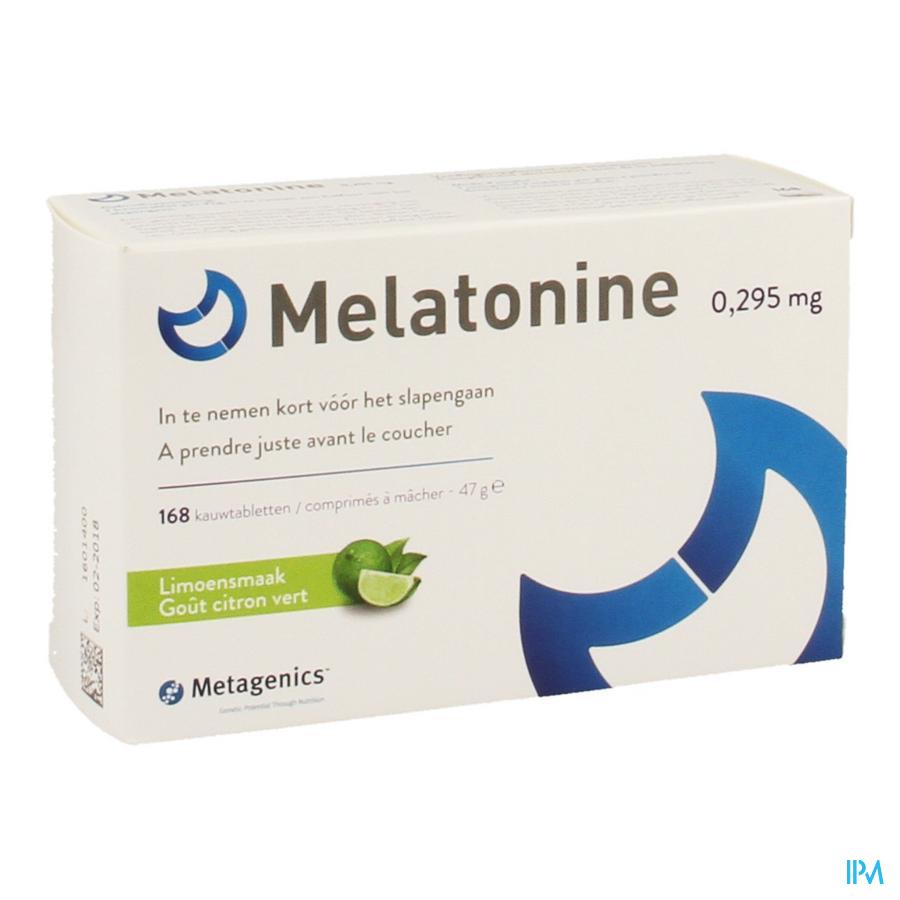 Melatonine 0,295mg Kauwtabl 168 Metagenics
