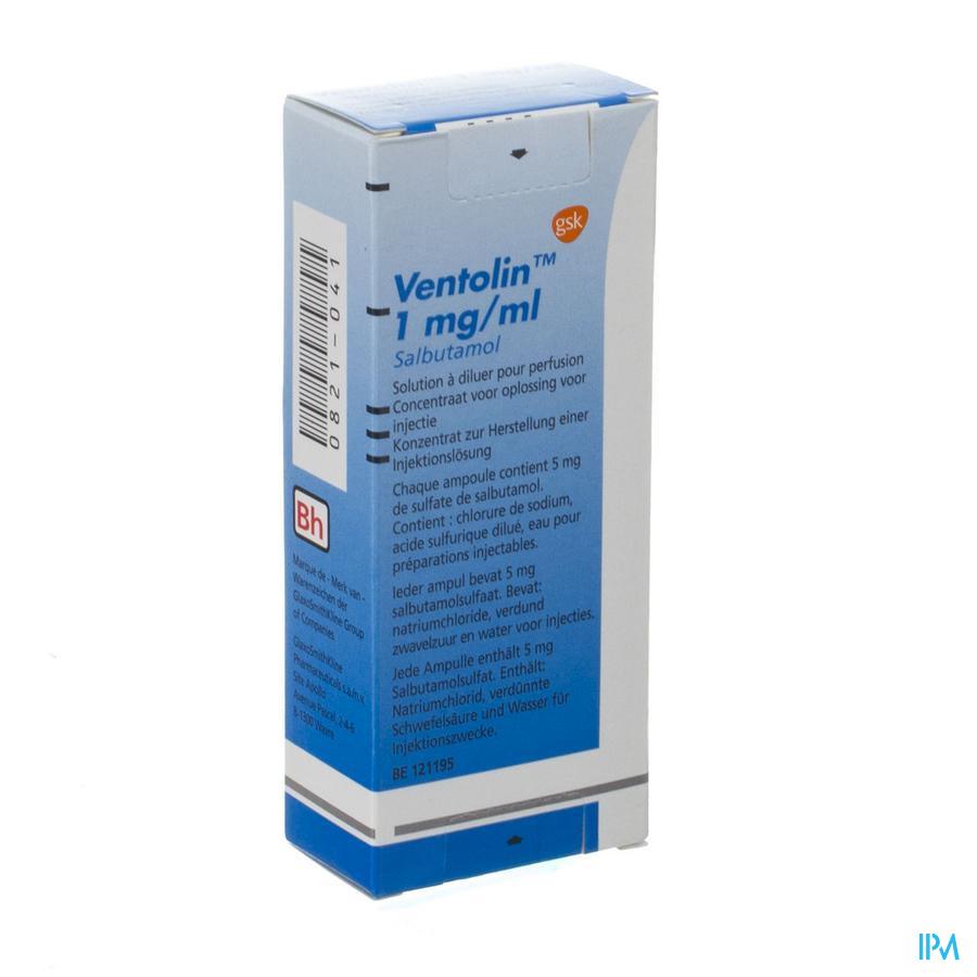 Ventolin Perfusie 1 Amp 5ml
