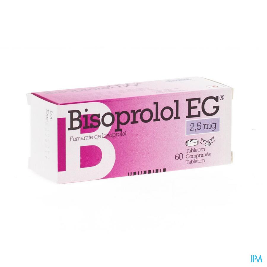 Bisoprolol Eg Comp 60 X 2,5mg