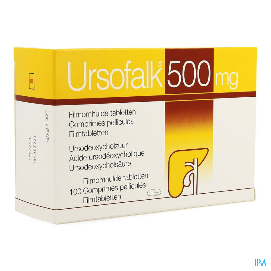 Ursofalk 500mg Comp Pell 100 X 500mg