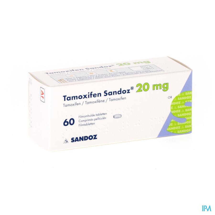 Tamoxifen Sandoz Comp 60 X 20mg