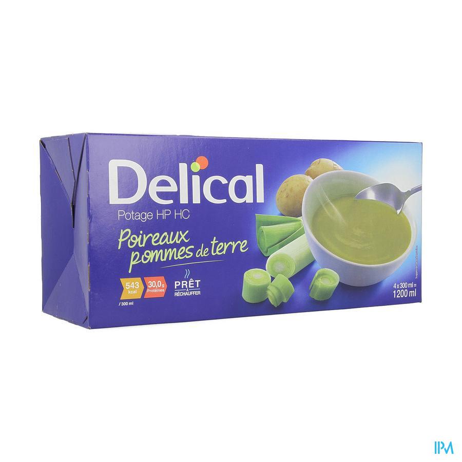 Delical Potage Hphc Poireaux Pomme Terre4x300ml Nf
