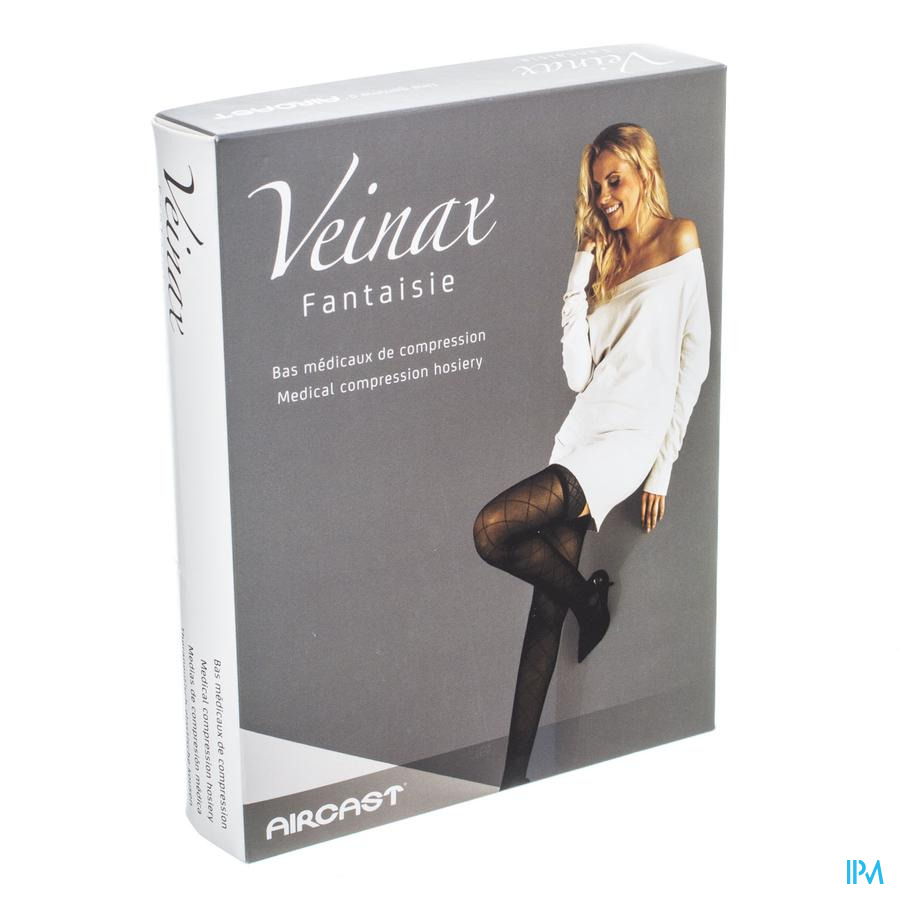 Veinax Collant Grand Losange 2 Long Noir Taille 1