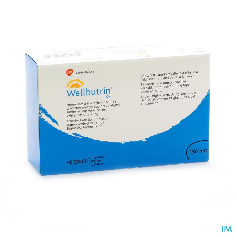 Wellbutrin Xr 150mg Tabs 90 X 150mg