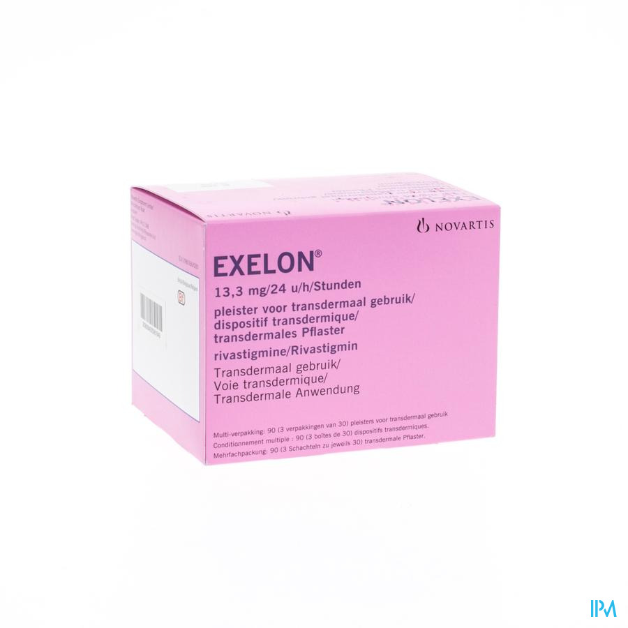 Exelon 13,3mg/24h Emplatre Transdermal 90