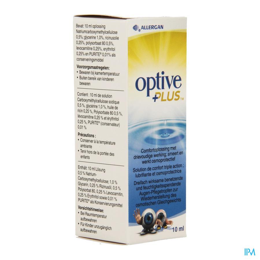 Optive Plus Sol Ster 1x10ml