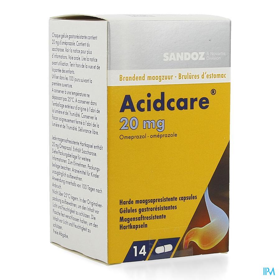 Acidcare 20 mg Sandoz Capsule Maagsapres 14 X 20 mg