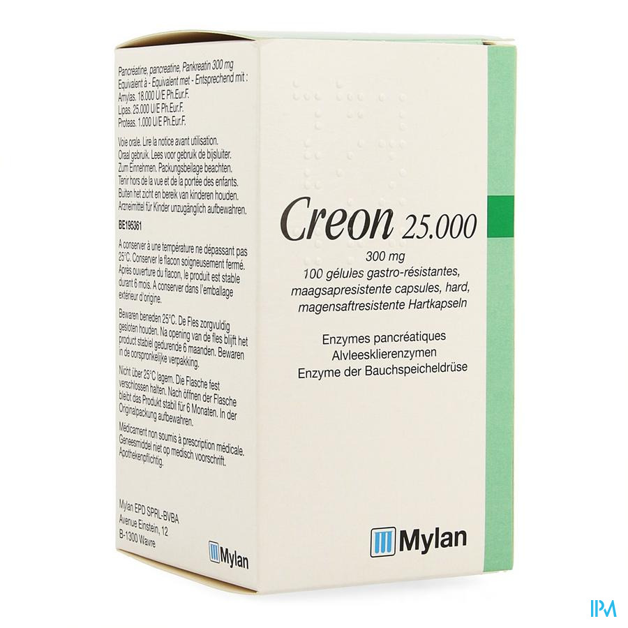 Creon 25000 Caps Gastroresist 100 X 300mg