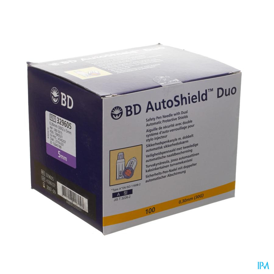 Bd Autoshield Pennaald Duo 5mm 100 329605