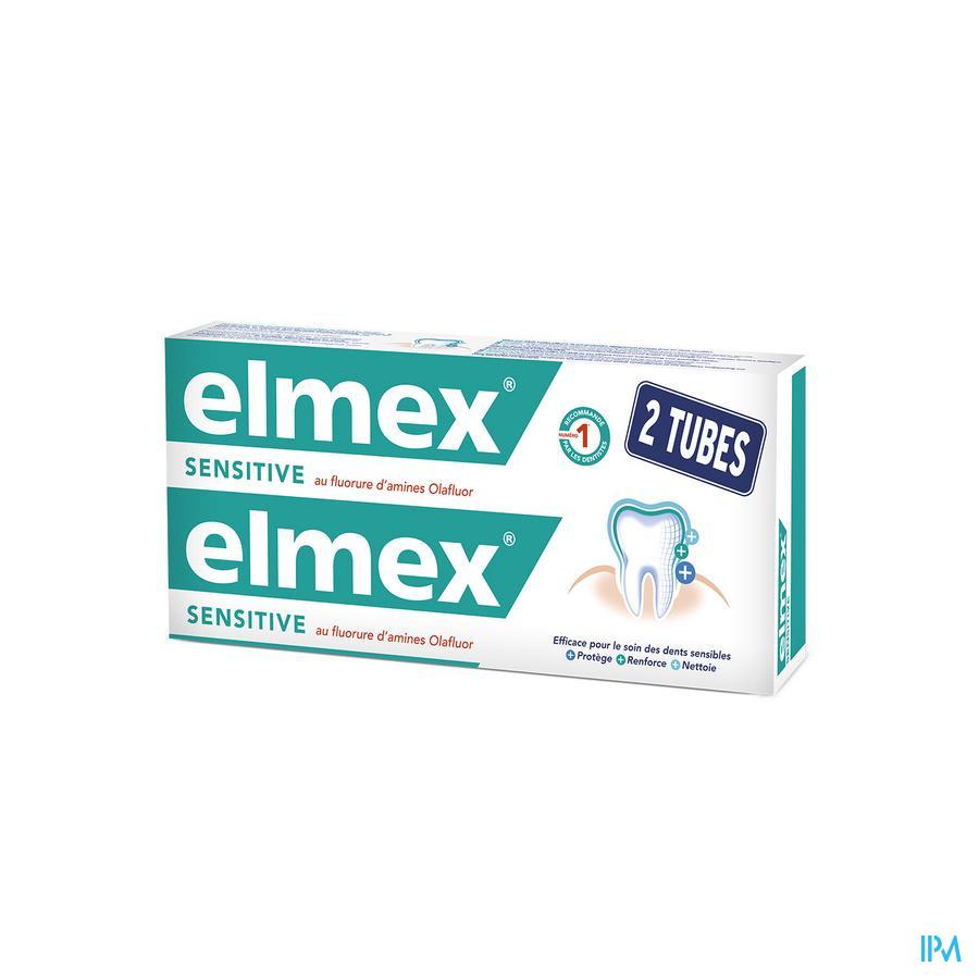 DENTIFRICE ELMEX® SENSITIVE TUBE 2x75ML -1.50€