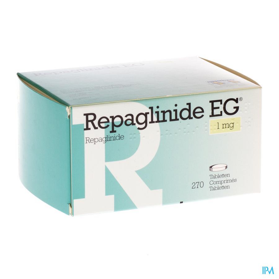 Repaglinide Eg 1,0mg Comp 270