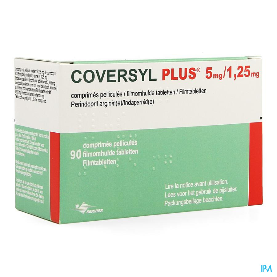 Coversyl Plus 5mg/1,25mg Impexeco Film.tabl 90 Pip