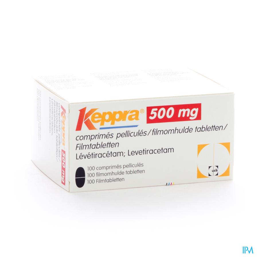 Keppra 500mg Comp Pell 100x 500mg