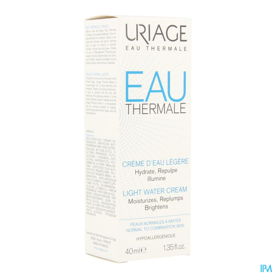 Uriage Thermaal Water Creme Licht Water 40ml