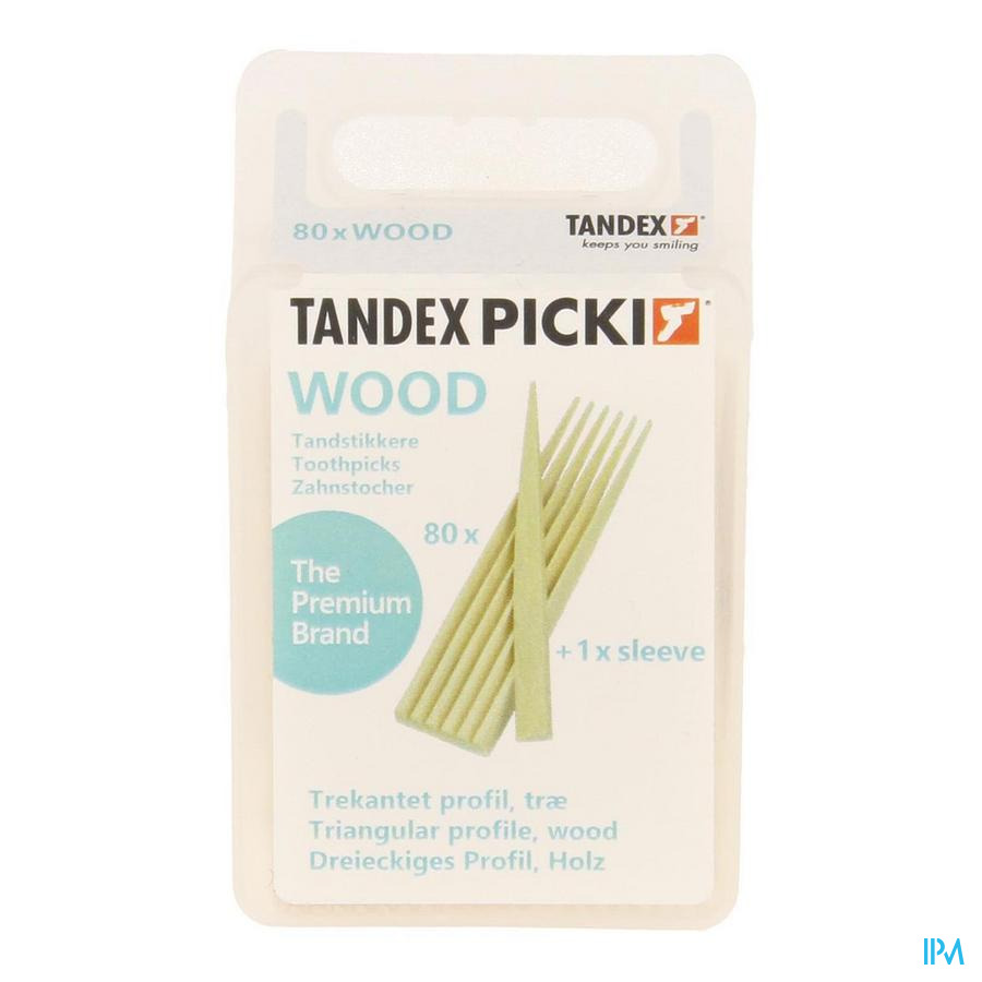 Tandex Toothpicks Wood 80
