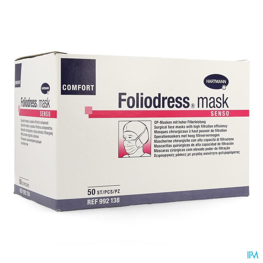 Foliodress Mask Senso Groen 50 P/s