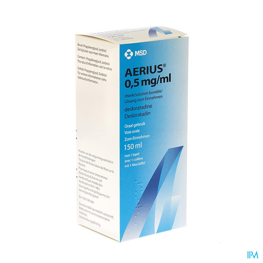 Aerius Solution Buvable 0,5mg/ml 150ml