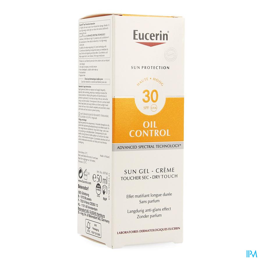 Eucerin Sun Oil Control Touch. Sec Ip30 50ml