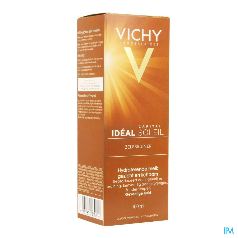 Vichy Cap Sol Melk Zelfbruin Gezicht&lich 100ml