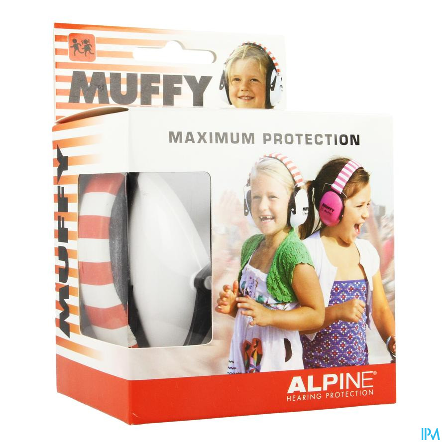 Alpine Muffy Koptelefoon Kids Wit/rood
