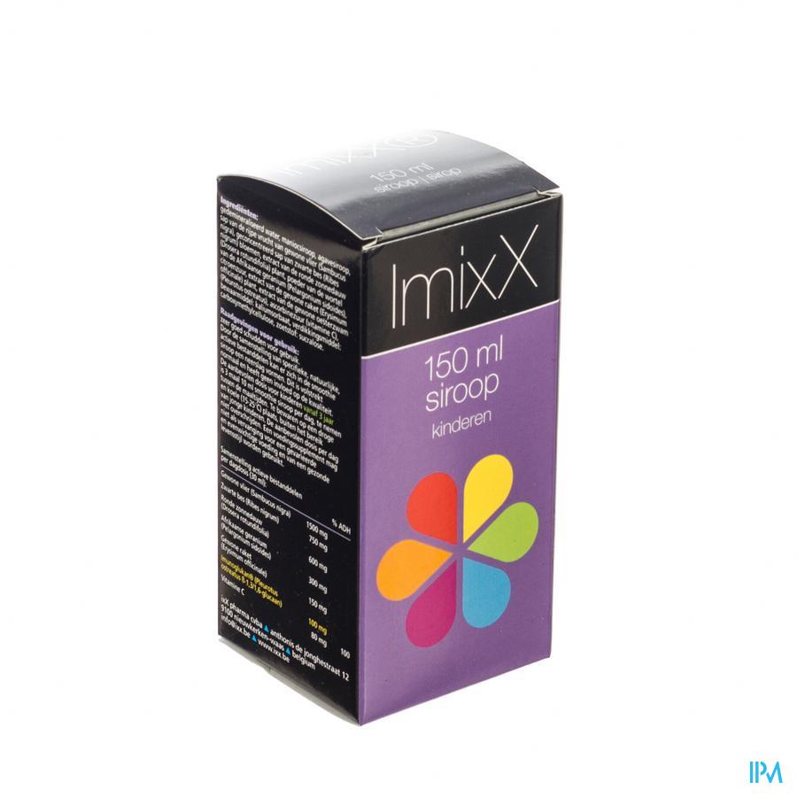 Afbeelding ImixX Siroop voor Kinderen met Bessensmaak Flacon 150 ml.