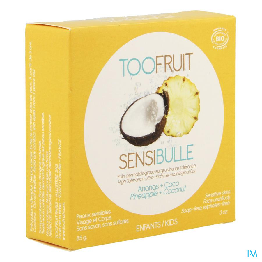 Too Fruit Sensibulle Pain Dermato Coco-ananas 85g