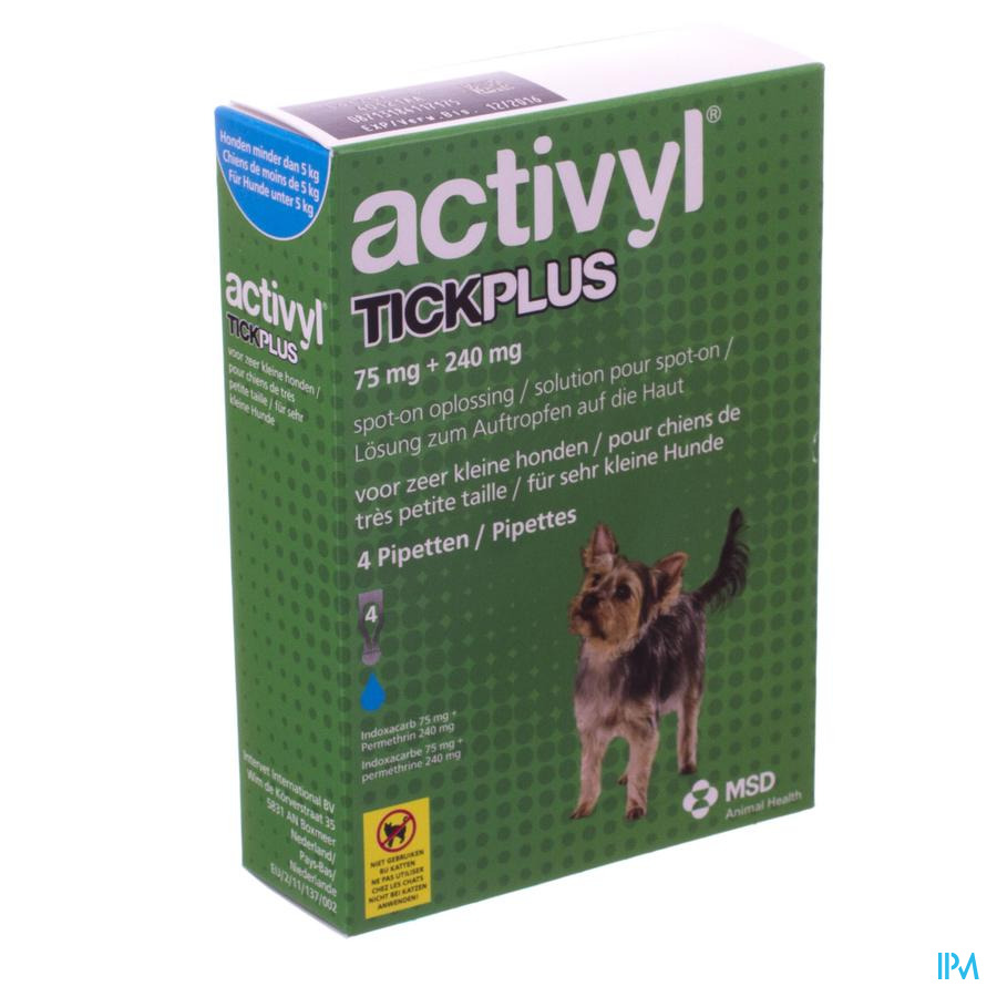 Activyl Tick Plus Opl. Spot-on 4x0,5ml