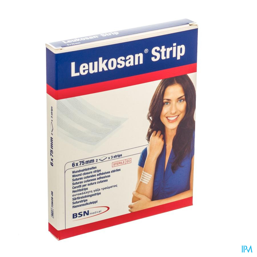 Leukosan Strip Ster 6x 75mm Wit 2x 3 7262808