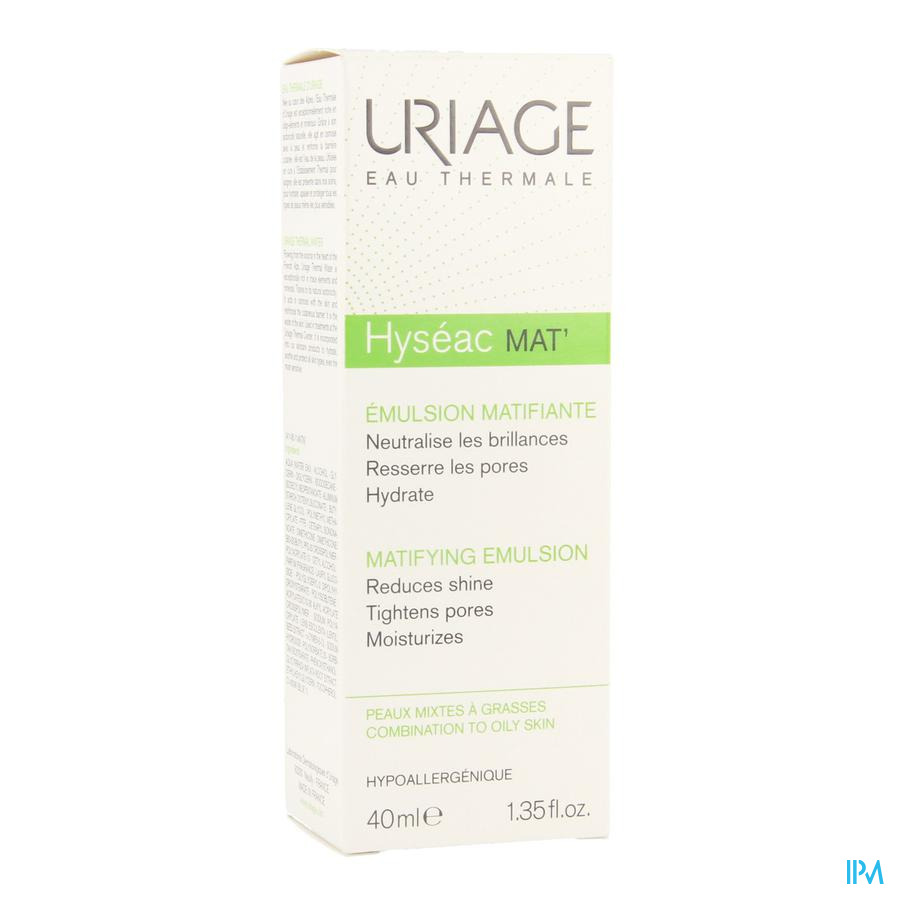 Uriage Hyseac Mat Gel Creme Tube 40ml